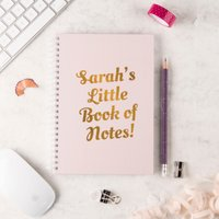 Personalised Notebook - Little Book Of Notes - Book Gifts