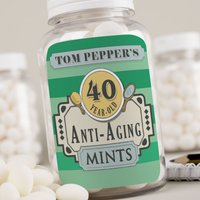 Personalised Mints - Anti-Aging Mints, Name & Age - Getting Personal Gifts