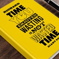 Personalised Diary - Wasting Time - Diary Gifts