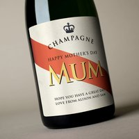 Luxury Personalised Champagne - Happy Mother's Day Mum