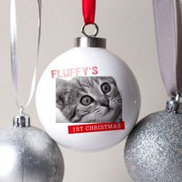 Photo Upload Bauble - Pets 1st Christmas - Pets Gifts