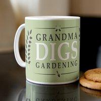 Personalised Mug - Digs Gardening - Gardening Gifts