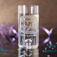 Personalised Shot Glass With Miniature - Happy Birthday - Shot Glass Gifts