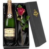 Personalised Champagne and Rose Gift Set