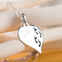 Image of Personalised Premium Silver Footprint Necklace