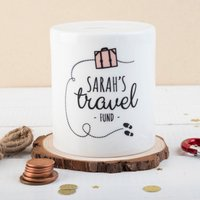 Photo Upload Ceramic Money Box - Travel Fund - Money Box Gifts