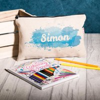 Personalised Splash Pencil Case With Pencils - Pencil Case Gifts