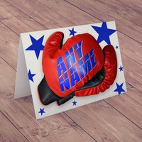 Personalised Card - Boxing Gloves - Boxing Gifts