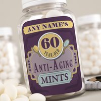 Personalised Mints - Anti-Aging Mints, Age & Name - 60th Birthday Gifts