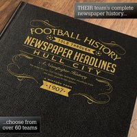 Personalised Hull City Football Book - Football Gifts