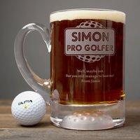 Personalised Golf Tankard - Pro Golfer - Golf Gifts