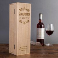 Personalised Luxury Wooden Wine Box - Grandad Special Year - Grandad Gifts