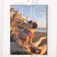 Personalised Calendar Pug Life - Pug Gifts
