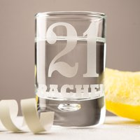Personalised Shot Glass With Miniature - 21 - Shot Glass Gifts