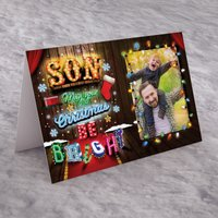 Photo Upload Christmas Card - Son, May Your Christmas Be Bright - Son Gifts