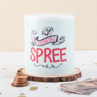 Personalised Ceramic Money Box - Spending Spree - Money Box Gifts