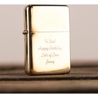 Engraved Gold Lighter - Lighter Gifts