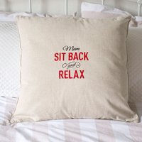 Personalised Natural Cushion - Sit Back And Relax - Relax Gifts