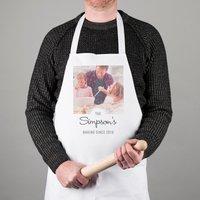 White Photo Upload Apron - Family Baking Since - Baking Gifts