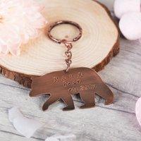 Personalised Copper Key Ring - Mama Bear - Key Ring Gifts