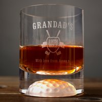 Personalised Golf Whisky Tumbler - Grandad