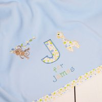 Personalised Jungle Fleece Blanket - Blue