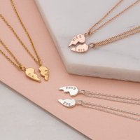 Personalised Posh Totty Designs Piece of My Heart Necklace Set - Posh Gifts