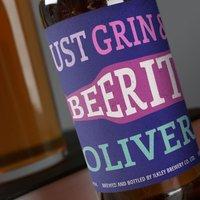 Personalised Beer - Grin and Beer It - Beer Gifts