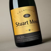 Luxury Personalised Champagne - Gold Design