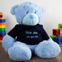 Personalised Baby Bonnie Bear - Blue