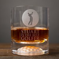 Personalised Golf Whisky Tumbler - Best Golfer - Golf Gifts