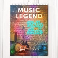 Personalised Music Legend Calendar - New Edition - Music Gifts