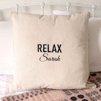 Personalised Natural Cushion - Relax - Relax Gifts