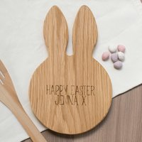 Personalised Bunny Ears Chopping Board Happy Easter
