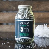Personalised Jar Of Humbug Sweets - Happy 30th - 30th Gifts