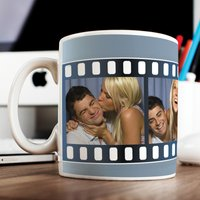 Photo Upload Mug - 4 Photos Film Reel - Photos Gifts