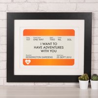 Personalised Print - Train Ticket - Train Gifts