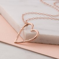 Personalised Posh Totty Designs Medium Heart Necklace