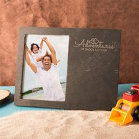 Engraved Slate Chalkboard Photo Frame - The Adventures Of