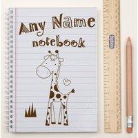 Personalised Notebook - Giraffe Sketch - Giraffe Gifts