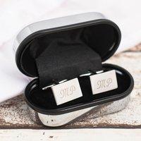 Engraved Rectangle Cufflinks - Cufflinks Gifts