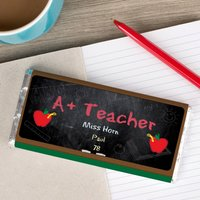 Personalised Chocolate Bar - A+ Teacher