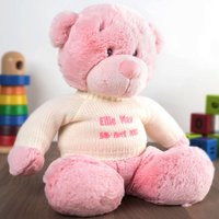 Personalised Baby Bonnie Bear - Pink