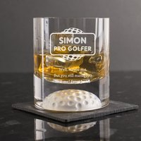 Personalised Golf Whisky Tumbler - Pro Golfer - Golf Gifts