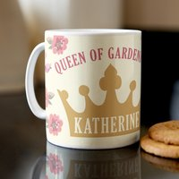 Personalised Mug - The Queen Of Gardening - Gardening Gifts