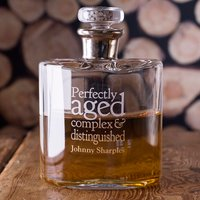 Personalised LSA Flask Decanter - Perfectly Aged - Flask Gifts