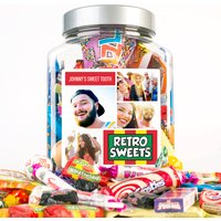 Photo Upload Retro Sweet Jar - 4 Photos & Message - Photos Gifts