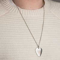 Personalised Guitar Pick Necklace - Guitar Gifts