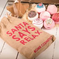 Santa Says Relax Bath Bomb Gift Set - Relax Gifts
