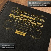 Personalised Fulham Football Book - Football Gifts